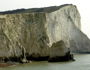 Chalk cliffs at Seaford Head, Sussex, UK