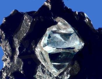 Diamond crystal in original matrix