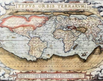 Map of the world by Abraham Ortels, 1570
