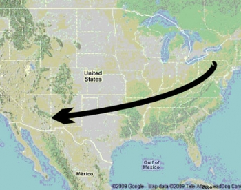 Palaeocurrents across the United States