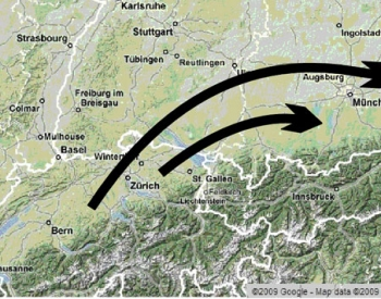 Palaeocurrents north of the Alps.