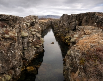 The Mid-Atlantic Ridge at Þingvellir, Iceland.