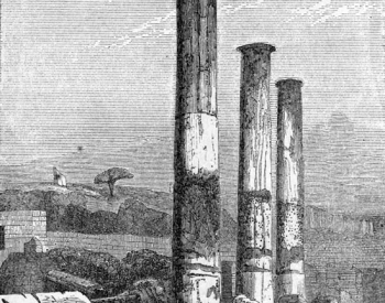 Used by Lyell and Ager to illustrate opposing theories – the Roman columns at The Serapium, near Naples.